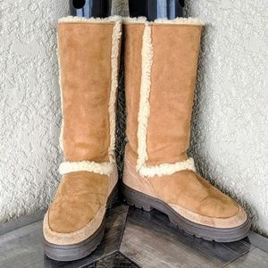 UGG Tall Chestnut Sundance II Treadlite Boots 7/8